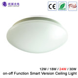 24W SAA LED Oyster Ceiling Wall Light with on-off Function Smart Version Light (QY-CLS4--24W)