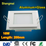 Energy Saving Aluminum+Glass Square 16W LED Ceiling Light