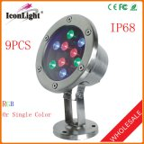LED Lamp 9PCS Outdoor Underwater Light IP68 Stainless Steel (ICON-C004)