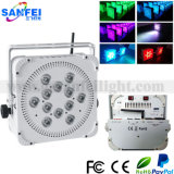 12X10W Indoor 4 In1 RGBW Battery LED Flat PAR (SF-321-4)