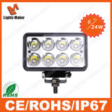 24W Heavy Duty LED Work Lamp Offroad LED Work Lights 4X4 LED Car Light