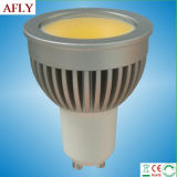 3W 300lm Thick Aluminium Alloy COB GU10 LED Spotlight