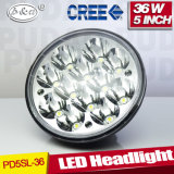 4X4 Truck Waterproof Hi/Low Beam Round 36W 5inch LED Headlamp (PD5SL 36W)