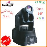 Mini LED Moving Head Stage Light 14W 7gobos Spot (ICON-M005A)
