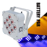 9PCS*15W LED Flat PAR with Battery and Wireless DMX