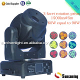 7 Rotating Gobos & 3-Facet Prism Spot LED Moving Head Lights