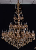 European Decorative Fabric Shade Antique Crystal Chandelier (8086-20+10+10+5)