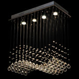 Most Popular Contemporary Crystal Dining Ceiling Light Lamp Free Shipping Crystal Cutain Wave Ceiling Light