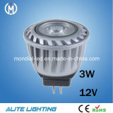 CE RoHS MR11 Gu4 12V 3W LED Spotlight (AS20-3W)