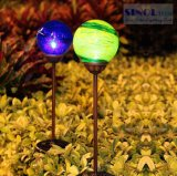 Yellow or Blue Color Solar LED Ground Pin Light Solar Garden Light Solar Lawn Lamp Solar Ball LED Light