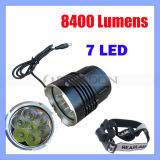 7 LED CREE LED Headlamp with 8400 Lumens