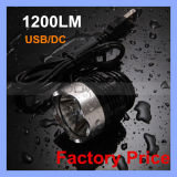 USB Rechargeable 1200 Lm 1 CREE T6 LED Bicycle Front Headlamp