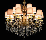 European Style Decorative Fabric Shade Crystal Chandelier (8122-10+5)