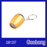 6LED Mini Aluminium Keychain Torch Flashlight