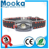Mh003001 IP65 Waterproof AAA Battery Red Color LED Head Lamp