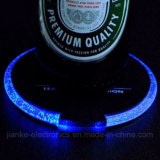Colorful Flashing Waterproof LED Cup Coaster with Logo Print (4038)
