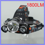 15W USB Charging 1800lm CREE Xml T6 3 LED Headlamp Fishing Flashlight Cap Headlight (1117)