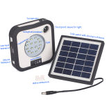 Small Portable Solar LED Light with Charger and Torch
