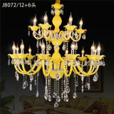 Lobby Project Crystal Pendant Lighting Candle Chandelier