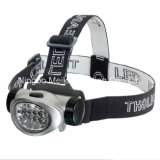 Portable Camping Outdoor Light 8/12 LED Headlamp (MK-3018)