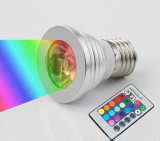 3W 16 Color Change LED Bulb Spotlight with IR Remote