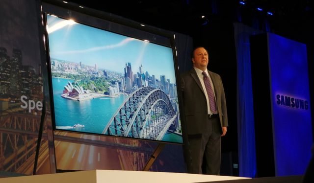 Samsung unveils 85-inch Ultra High Definition TV and new interaction technology
