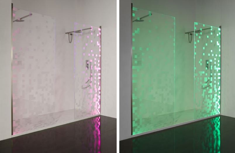 The Stylish LED Shower Doors Make You Enjoy Home Spa