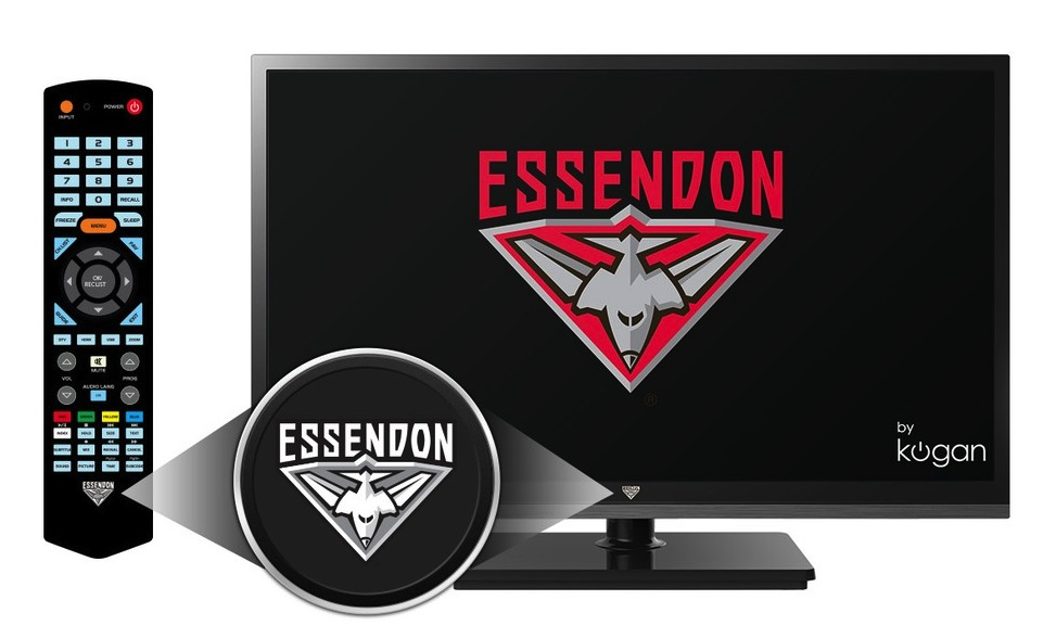 Kogan unveils limited edition Essendon branded LED TV