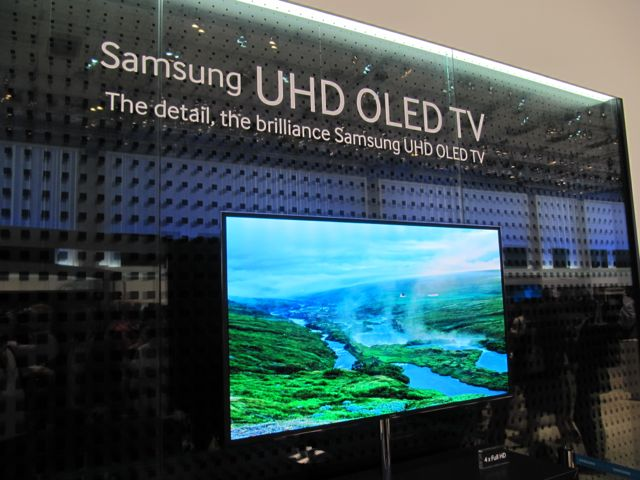 Samsung springs IFA surprise with ultra high definition OLED TV